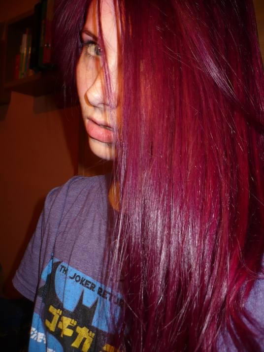 fioletowe włosy blog