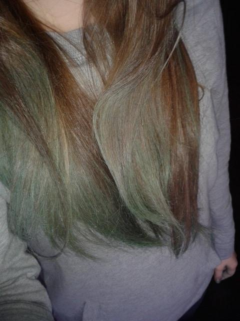 zielone ombre spray koloryzujący do włosów