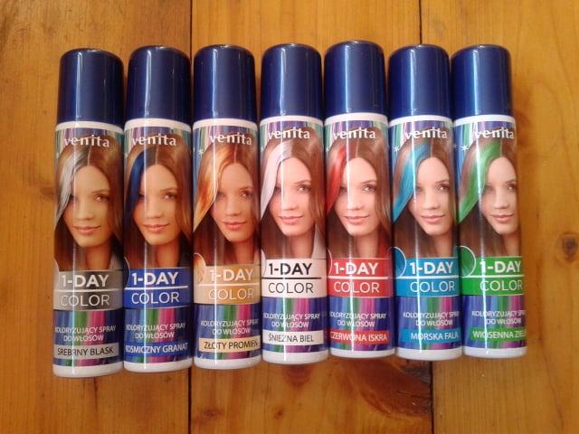 spray koloryzujący do włosów